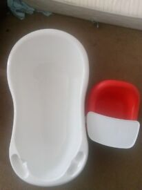 Baby bath and chair