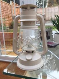 Ivory/cream Lantern lamp