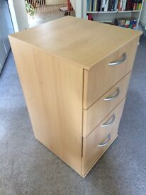 Bedside table - four drawer, great condition