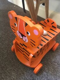 Ride on wooden tiger