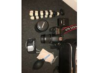 Canon 60D with two lenses 18-55mm/55-250mm + cleaning kit and carry case