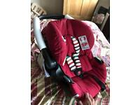 (Brand new) hauck baby car seat and travel hard carry cot