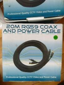 Coax and power cable