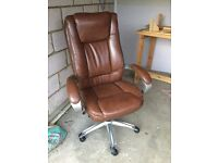 John Lewis full leather office chair