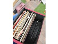 Two boxes of Vinyl Records