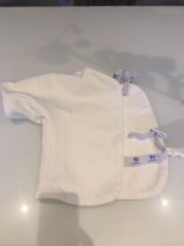 Fencing jacket and foil lame left handed age 8-10