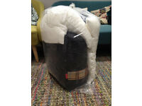 [A set] Coleman Hampton Double Sleeping Bag+ Brand New John Lewis Pillow (a pair)