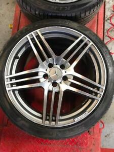 2000-2012 Mercedes AMG | 4 Rims + 2 All Season Tires | 5x112 | 19Inch | Mint Condition