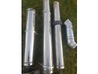Class 1 twinwall flue pipes to suit woodburner stove or boiler