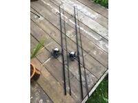 Daiwa Crosscast 5000 qda reels & Daiwa G50 black widow rod combo