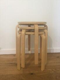 IKEA birch stools