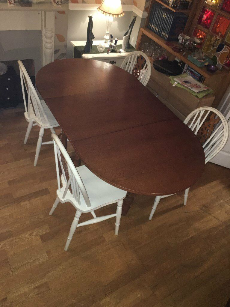 Extendable Table 4 Chairs in Shirehampton Bristol  : 86 from www.gumtree.com size 768 x 1024 jpeg 113kB