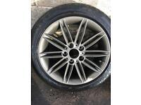 "Bmw 1 series genuine original alloy wheels m-sport 17 "" inch"