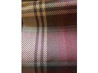Next, Elsworth woven check curtains, with matching rug and cushions