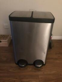 2 Section Stainless Steel Recycling Bin