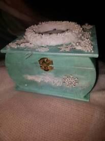 Hand made Christmas jewellery box