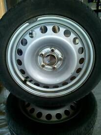 "Pair of 17"" Vauxhall Astra Steel wheels and winter tyres"