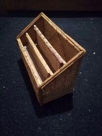 Wicker letter basket