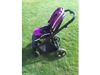 Oyster 2 travel system (with britax SHR II babyvsafe car seat and isofix base)