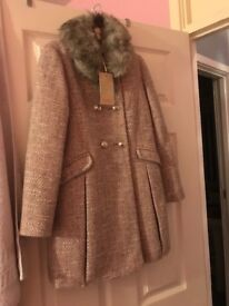 Age 9-10 brand new with tags girls monsoon coat. Pink and grey