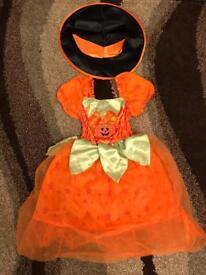Pumpkin Halloween costume 3-4 year old