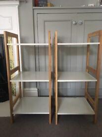 2 Habitat Drew Bamboo and Laquer Bookshelves