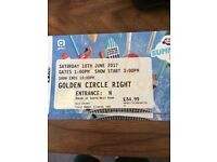 CAPITAL FM SUMMERTIME BALL GOLDEN CIRCLE RIGHT SIDE 4 TICKETS AVAILABLE