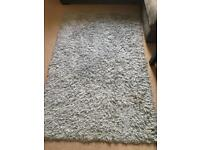 Duck egg shaggy rug carpet