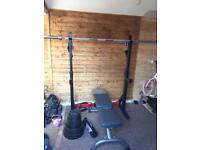 Squat rack/ bench press