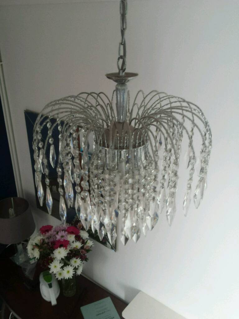 Glasses chandelier in heath cardiff gumtree glasses chandelier aloadofball