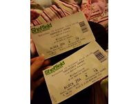 2 xNickelback tickets for 15th october sheffield arena doors open at 6.30pm sitting