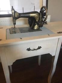 Vintage Jones Sewing machine, Electric with foot pedal.