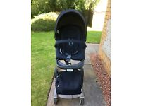 Pram/buggy: Stokke Xplory in navy with accessories