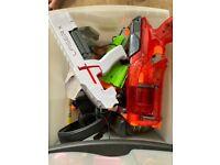 Laser X and Nerf guns