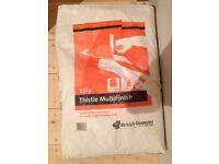 Free bag of plaster.