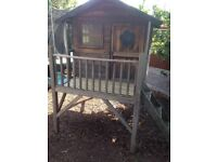 5 x 5 Tower Wooden Playhouse with Slide
