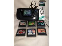 Working Sega Game Gear with Games and Accessories