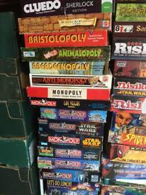 Various board games for sale.