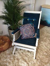 Vintage brushed velvet rocking chair