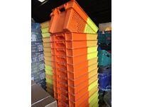 plastic stacking crates -job lots - packing crates - storage crates - job lots