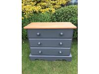 Solid Pine Chest of Drawers-Painted Frenchic Smudge Grey