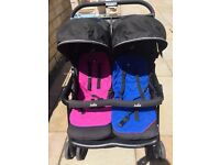 Joie Twin pushchair with rain cover