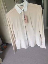 BNWT (genuine) Miu miu silk shirt / size 8 uk