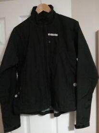 Mens black water resistant jacket