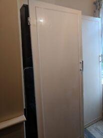 7 White Vintage/Edwardian Doors - 1 with glass panes 6 standard original doors with vintage handles