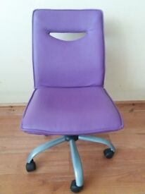 Computer faux leather chair black/ Computer faux leather chair purple/ Glass table