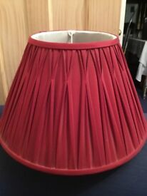 Two Laura Ashley wine lampshades
