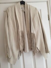 As new beautiful cream suede jacket