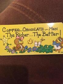 Coffee chocolate men magnet