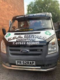 KSA METALS free scrap metal collection covering all areas of manchest